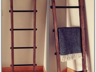 Free DIY Blanket Ladder Plans