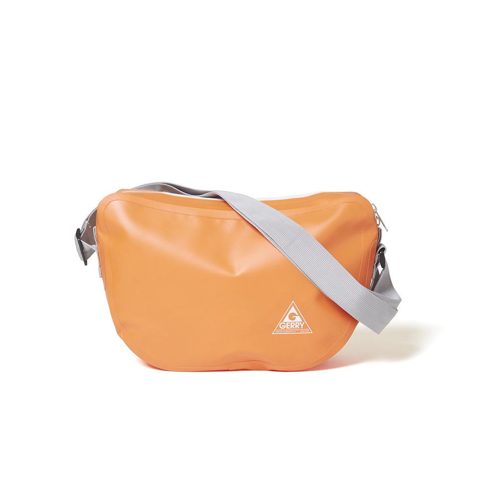 ビーンズ型防水ショルダーバッグ オレンジ