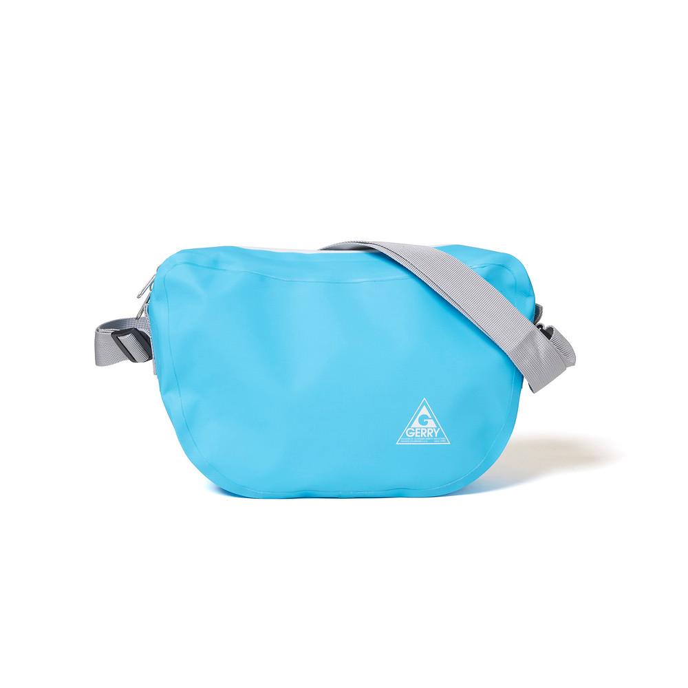 ビーンズ型防水ショルダーバッグ ブルー