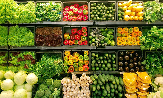 Colorful fresh vegetables on dispaly