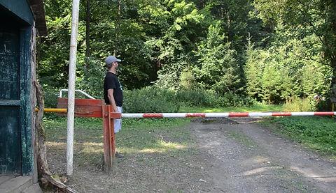 Pohled na tábor z oddílu