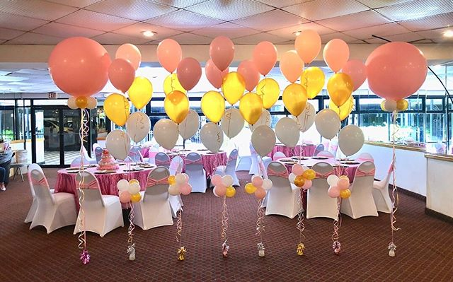 """Baby Shower Balloons""💖💛. Balloon Tree"