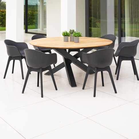 Xianx table teak / Mona chair