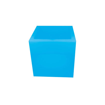Led cube flower pot