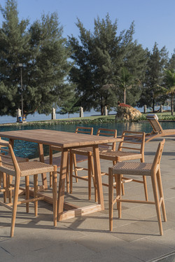 Bar table and bar chair colmar