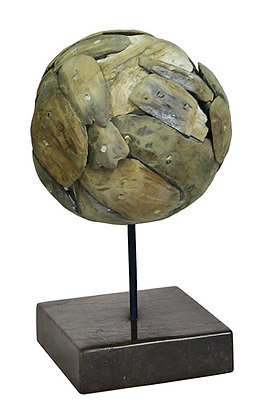 Left over teak wood ball