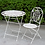 Thumbnail: Bistro set flowers