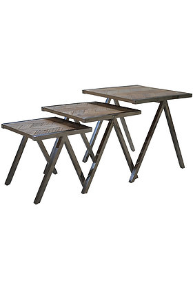 Triangle End Table Set 000 826