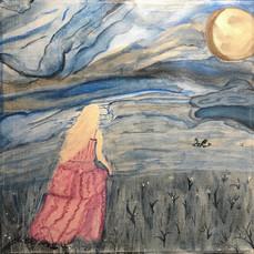 No. 1128 Moon Goddess 12x12 Canvas