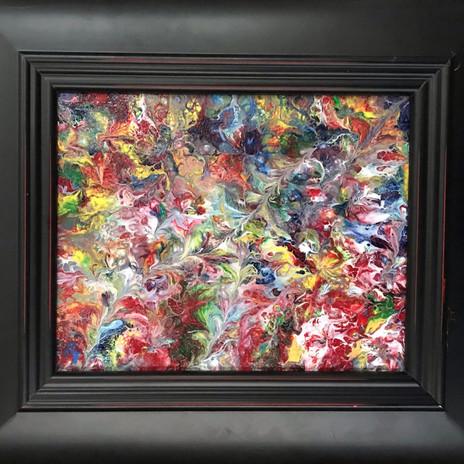 No. 1130 - Rainbow Garden - 8x10 Acrylic on Canvas