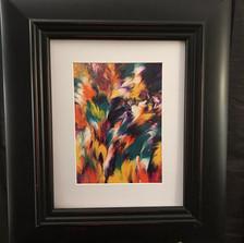 No. 1101 Liquid Feathers I   8x10 Canvas Board