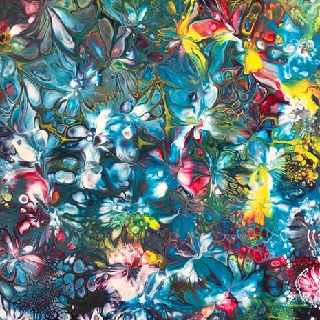 No. 1111 Cosmic Garden 8x10 Canvas