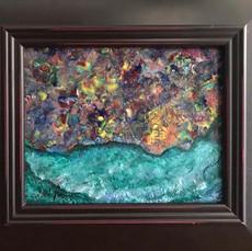 No. 1137 - Emerald Fire - 8x10 Acrylic on Cavas