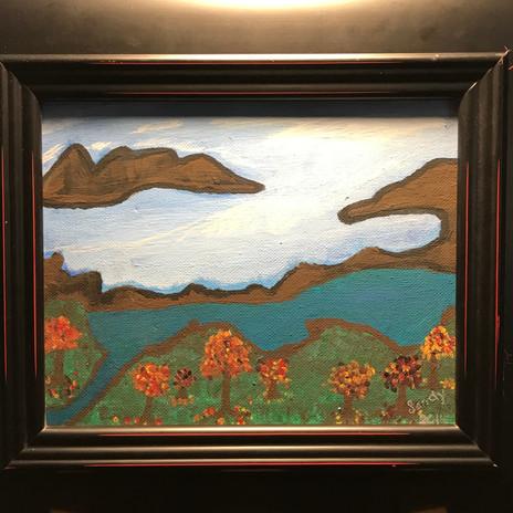 No. 1121 Around the Bend Canvas 8x10