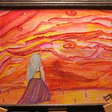 No. 1126 Summer Goddess 8x10 Canvas Board