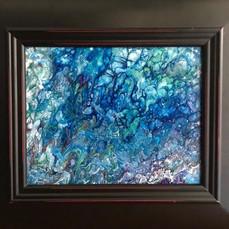 No. 1136 - Fade Blue - 8x10 Acrylic on Canvas