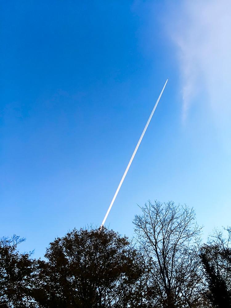 L'avion, le ciel et un téléphone