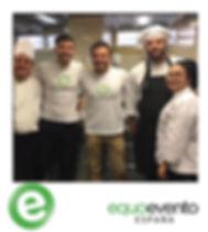 L'equipe Equoevento Espana lors d'une recuperation alimentaire