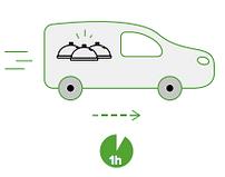 Un camion adapté à la chaîne du froid pour récupérer les excédents alimentaires
