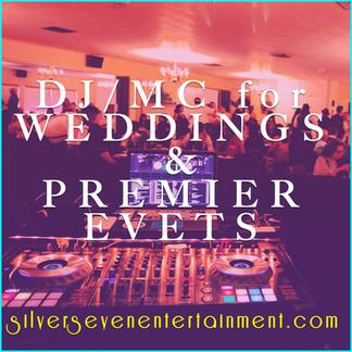 1. Dj:Mc for weddings & Premier events S