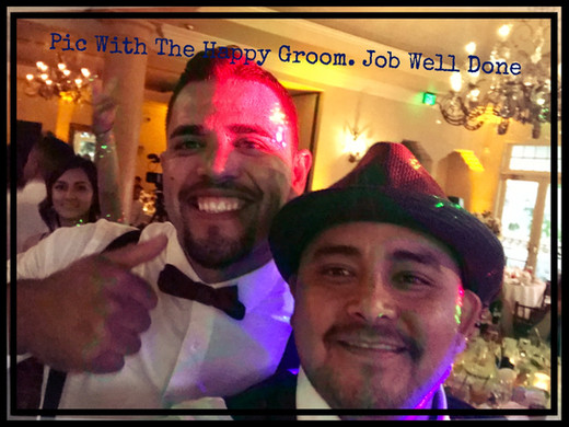 Dj julian Cesar from silver Seven Ent. with the Groom