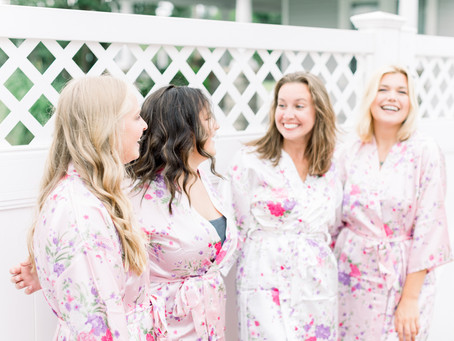 Bridesmaids pretty in pink shoot