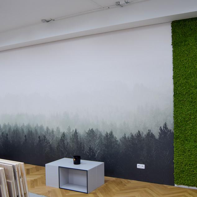 mechové stěny - Sobí mech - medium green
