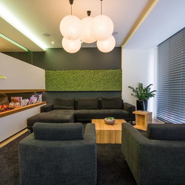 Mechová stěna - Medium green