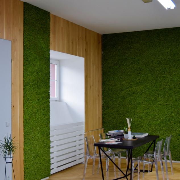 Mechové stěny - medium green