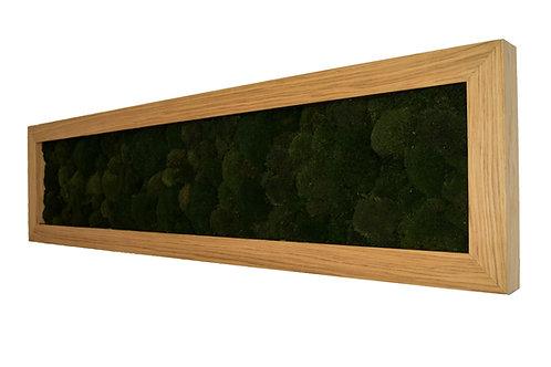 Mechový obraz v dubovém rámu - Moss green