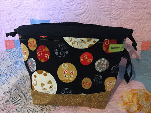 Round Cats Sock Sized Bag
