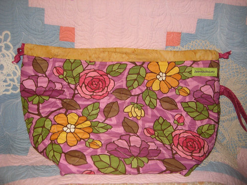 Bright Florals Quilted Bag - Sweater Size
