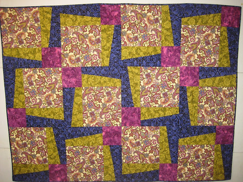 Bright and Paisley Lap Quilt