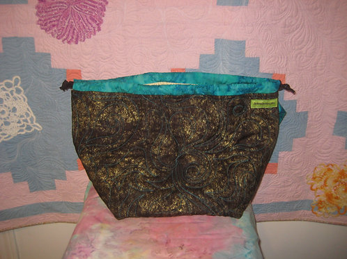 Chocolate Quilted Bag - Sweater Size