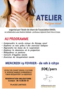 affiche atelier fatigue vocale ecole de