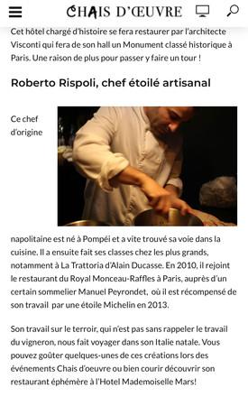 Roberto Rispoli Chef Etoilé