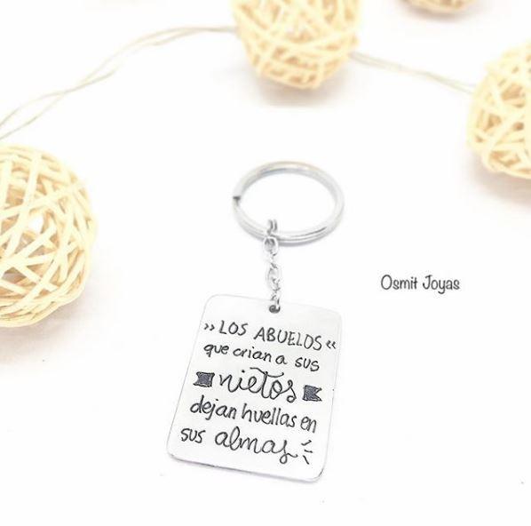 llavero personalizado para abuelos osmit joyas