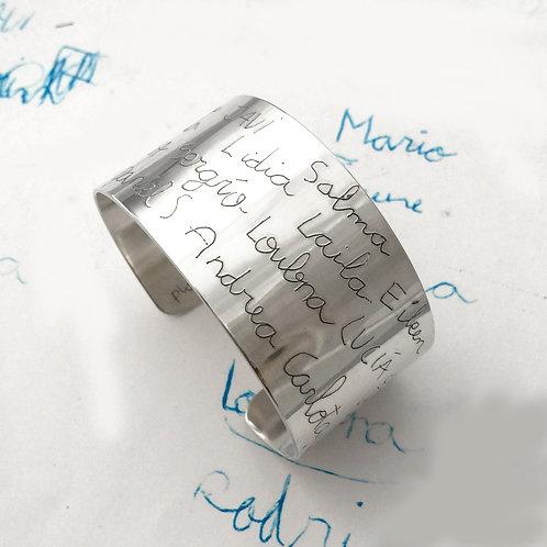 Brazalete grabado ancho 3cm (aluminio)