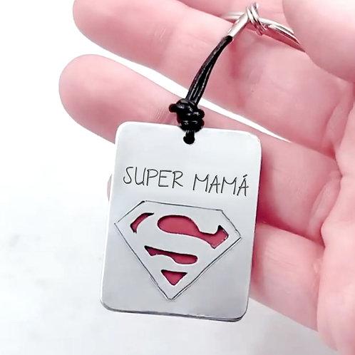 Llavero S de Super Mamá