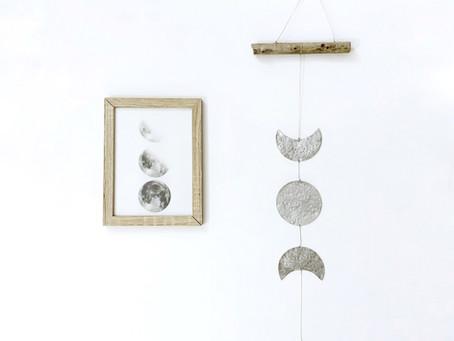 Móvil decorativo fases lunares