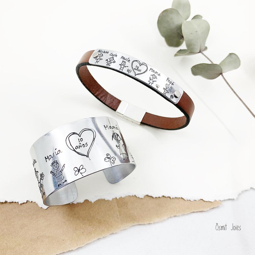Pulseras de aluminio para las bodas de aluminio, el 10º Aniversario de Bodas