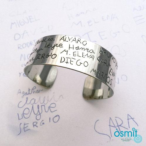 Brazalete para profes grabado ancho 2cm(aluminio)