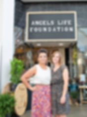 Two People, Angel's Life Foundaion Owner & VP, Store Front