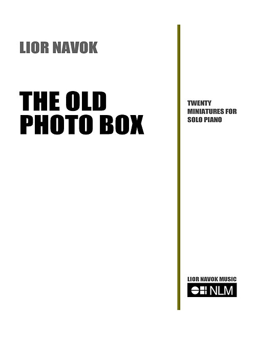 """The Old Photo Box"" - for Solo Piano [Hard Copy]"
