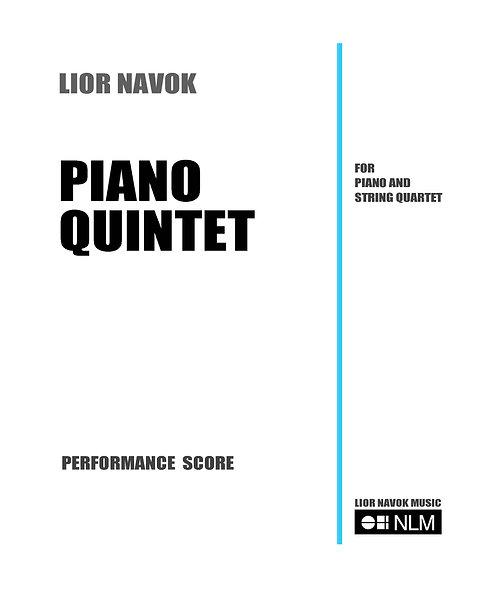 Piano Quintet (full score) [PDF download)