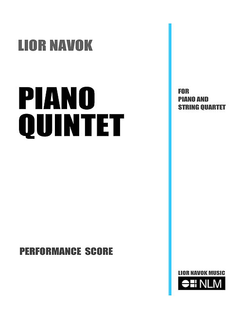 Piano Quintet (full score) [PDF download)