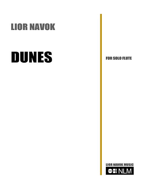 """Dunes"" - for Unaccompanied Flute [Hard Copy]"