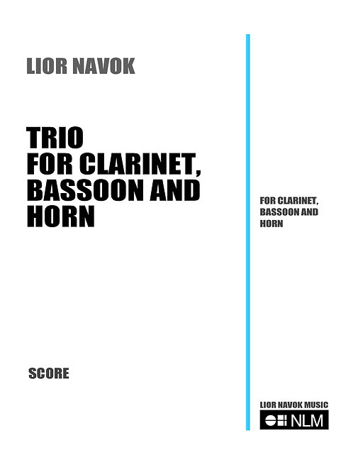Trio for Clarinet, Bassoon and Horn (score and part) [PDF download)