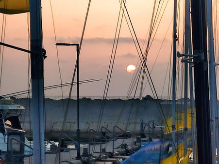Sunset through Masts