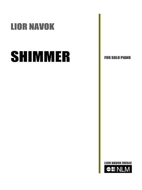 """Shimmer"" - for Solo Piano [Hard Copy]"
